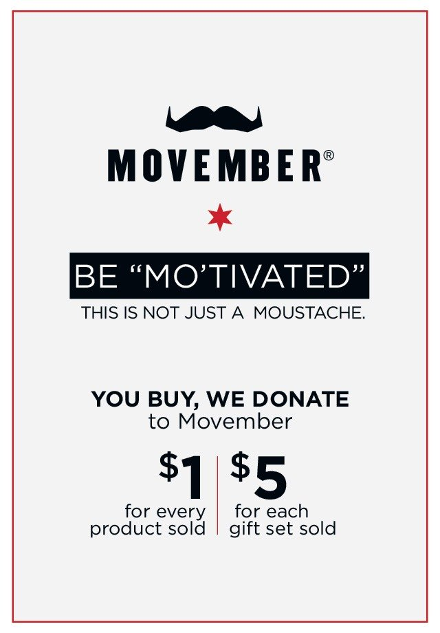 movember collaboration, donation for men's health